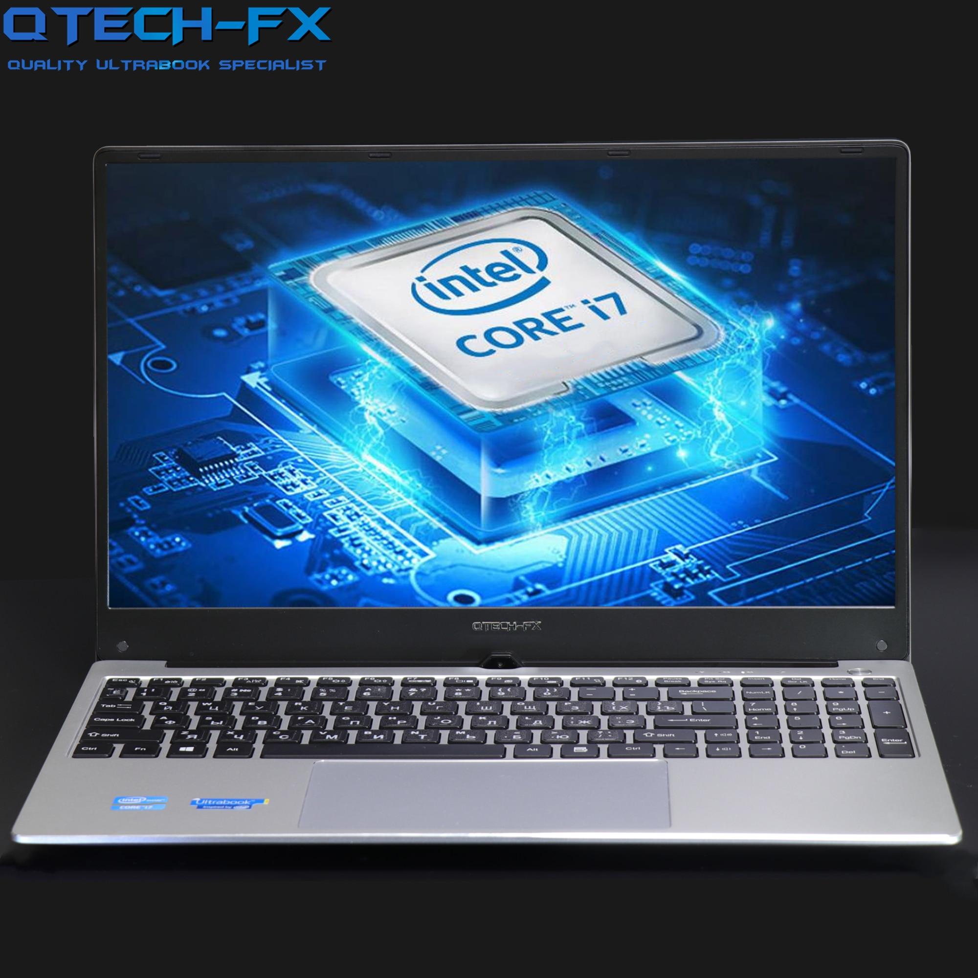 "15.6"" Gaming I7 Metal SSD 256GB HDD 1TB 16GB RAM CPU Intel Windows 10 Office School AZERTY Italian Spanish Russian Keyboard Ligh"