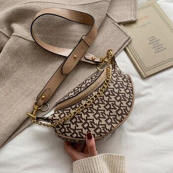 цена на Women Fashion Letter Print Designer Chest Bag Casual Chain Crossbody Bag INS Personality Brand Wild Broadband Belt Bags Purse