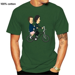 Beavis And Butthead As El And Mike Strangely Stupid Funny White T-Shirt Summer Style Tee Shirt