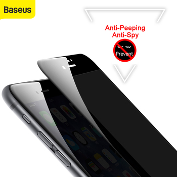 Baseus 3D Tempere Screen Protector For iPhone 7 6 6s Anti Peeping Tempered Glass For iPhone 7 6 6s Plus Privacy Soft Edge Film