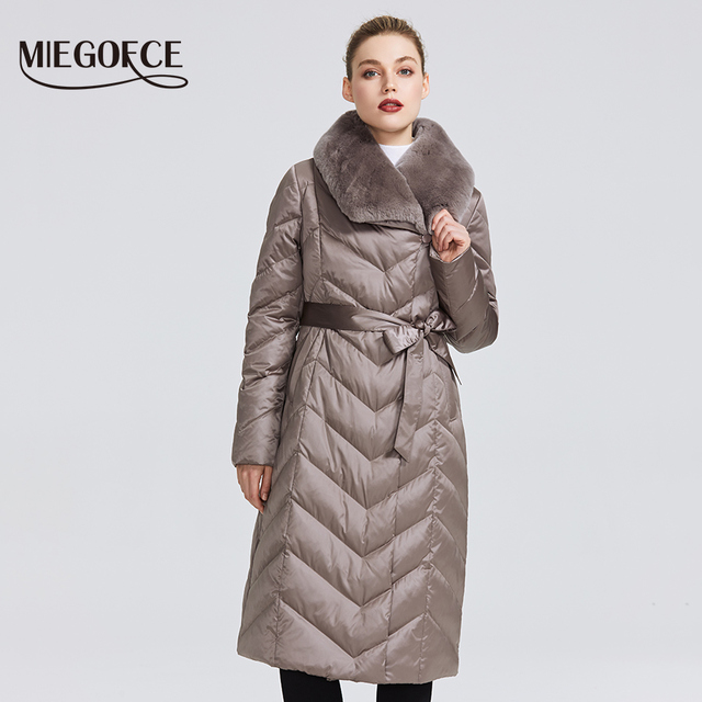 MIEGOFCE 2019 New Collection Women's Jacket With Rabbit Collar Women Winter Coat Unusual Colors That a Windproof Winter Parka 1