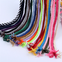 Cotton Cord Draw-String Clothing Diy-Accessories Braided 5mm Twisted 10meters/Lot
