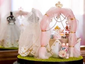 Image 5 - Spring Flowers DIY Handmade Mini Doll House White Wedding Dress Wooden Miniature Home Assembling Decoration Glass Ball Dollhouse