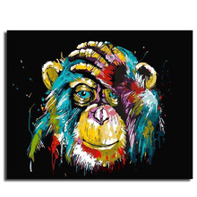 Digital Oil Painting DIY Hand-Painted Colorful Animal painting by numbers home decoration Living room Poster yhhp hand painted animal canvas oil painting hair donkey