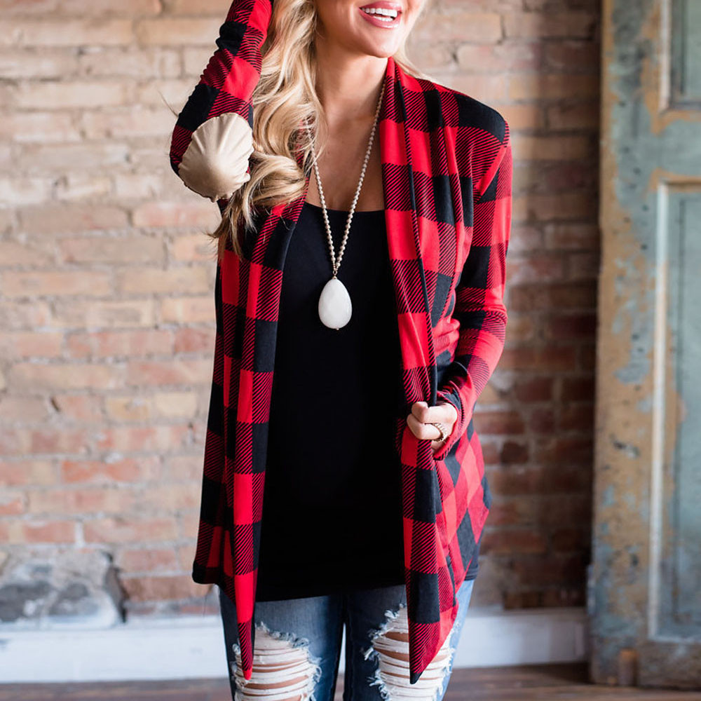 Women Plaid kimon Coat Jacket Open Cape Casual Thin Loose Blouse Jacket Cardigan womens jackets and coats 2020 harajuk