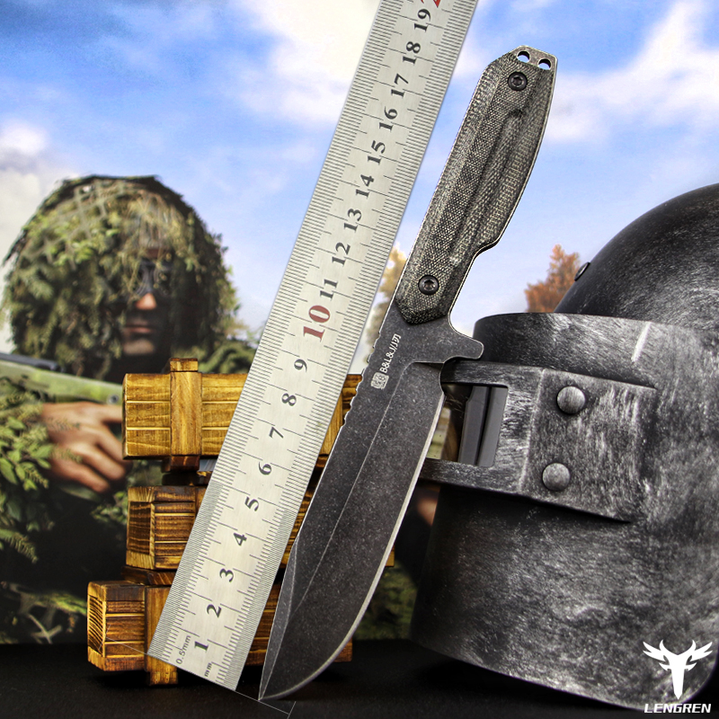 Tools : X-MAN DC53steel knife Linen handle outdoor camping jungle survival battle Hunting knife Straight knife Camping rescue knife tool