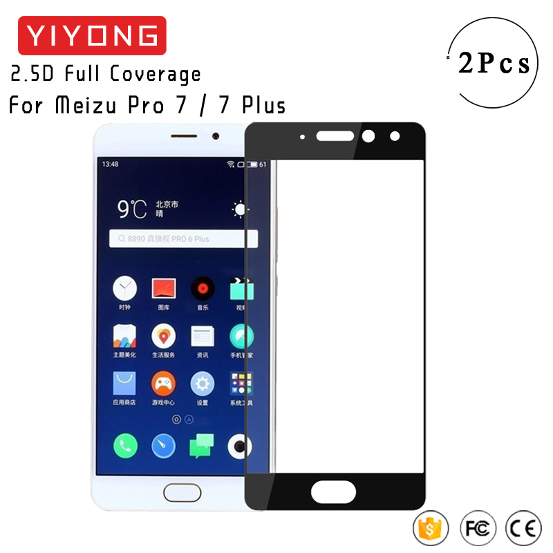 YIYONG Full Screen Cover Glass For Meizu Pro 7 Plus Tempered Glass Meizu Pro7 Plus Screen Protector For Meizu 7 Pro Plus Glass