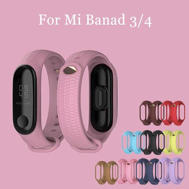 Mode mi bande 4 sangle Silicone Bracelet de poignet pour Xiao mi bande 3 sangle accessoires mi bande 3 bracelets intelligents mi bande 4 1