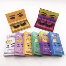 New Eyelash Packaging Box Lashwood Packaging with Tray Rectangle Case Fluffy 25mm Mink Lashes Box Eyelashes Package