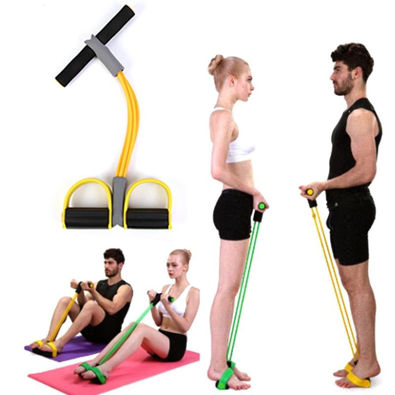 Home Fitness Equipment Abdominal Device Fitness Sports Multi-function Tension Rope Four-tube Pedal Puller Sit-up Equipment