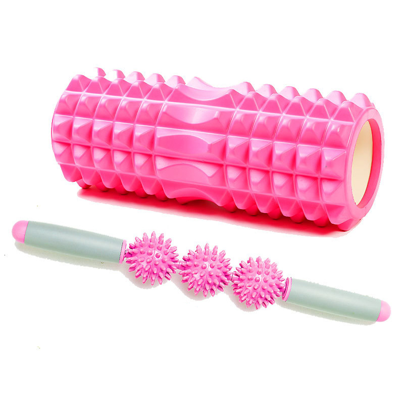 Yoga Column Fitness Pilates Yoga Foam Roller Block Train Gym Massage Grid Trigger Point Therapy Physio Exercise Fitness Ball Set