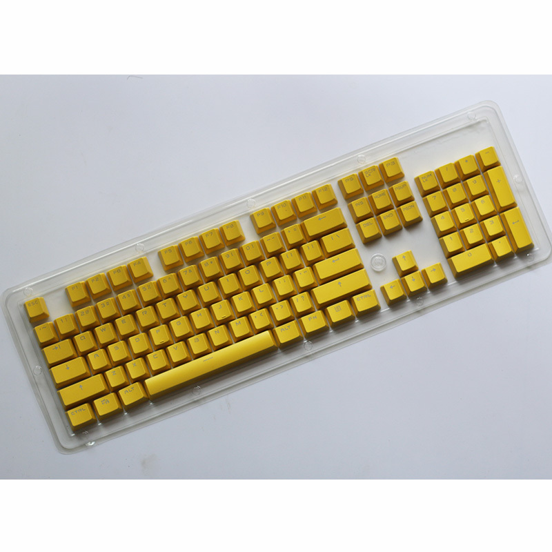 104 Key Cap for All Mechanical Keyboards,Dedicated Personality Double Color Mode Light transmissive Non-Fading Color Key Cap,G AWZSDF PBT Double Click Double Color keycap Set