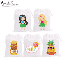 Hawaii Girls Theme Party Favor Bags Candy Bags Gift
