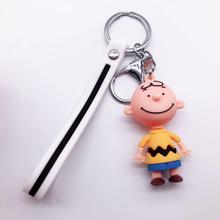 2019 New men and women Key Chain Charly Brown Cartoon Peanut Dolls Desk Accessories  / Bag Naughty Figure Give Gift