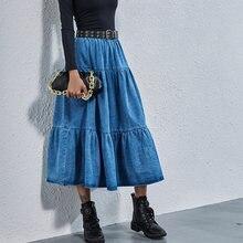 Jyss новые джинсовые юбки для женщин 2020 femme jupes длинные