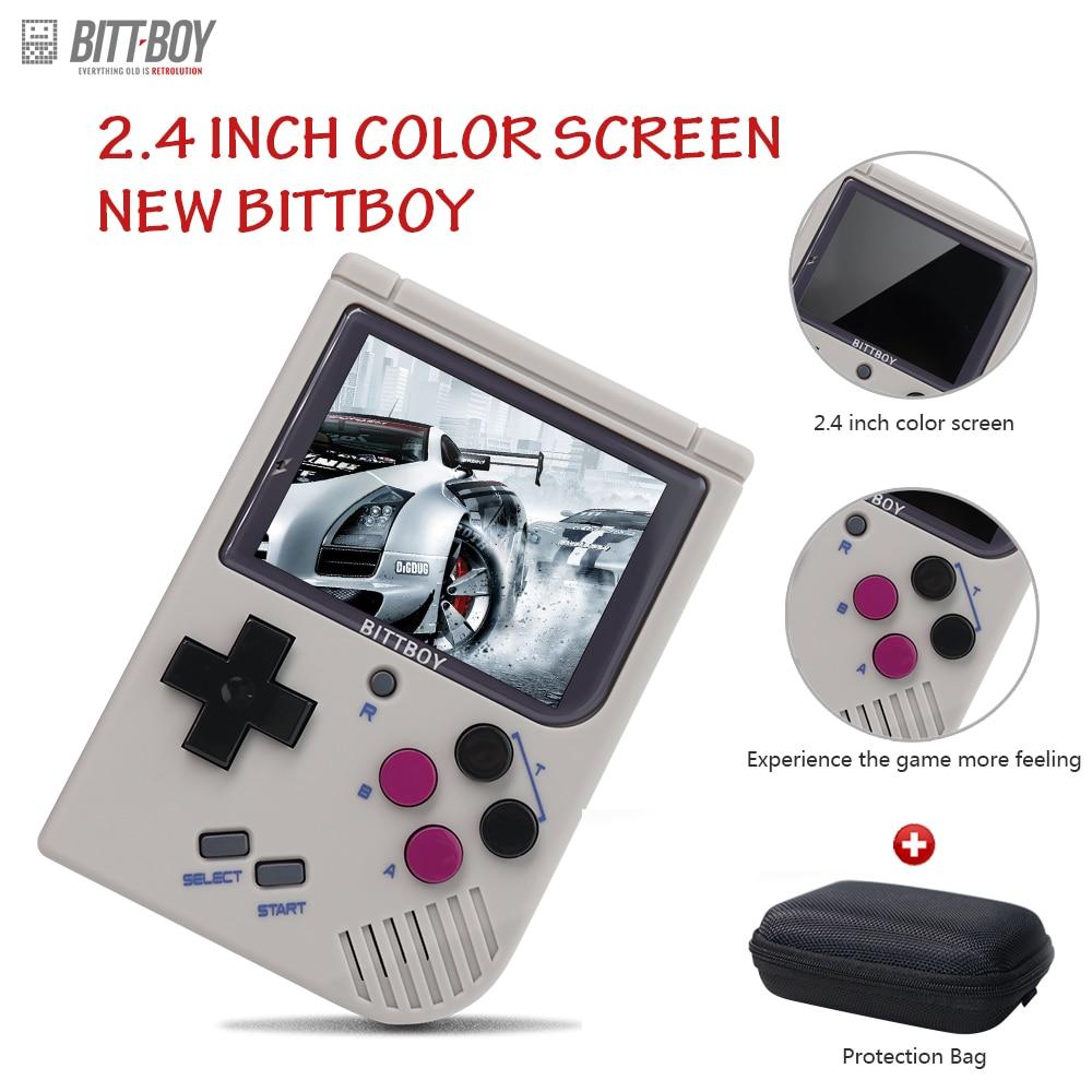 Video Spiel Konsole Neue BittBoy-Version3.5-Retro Spiel Handheld Spiele Konsole Spieler Fortschritt Sparen/Last MicroSD karte externe