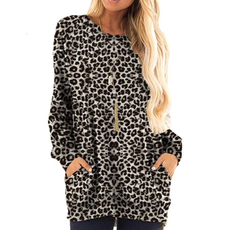 Leopard Long Sleeve Print Tee Maternity Tops For Pregnant Women Clothes Loose Pregnancy Top Shirts Maternity Clothing Autumn