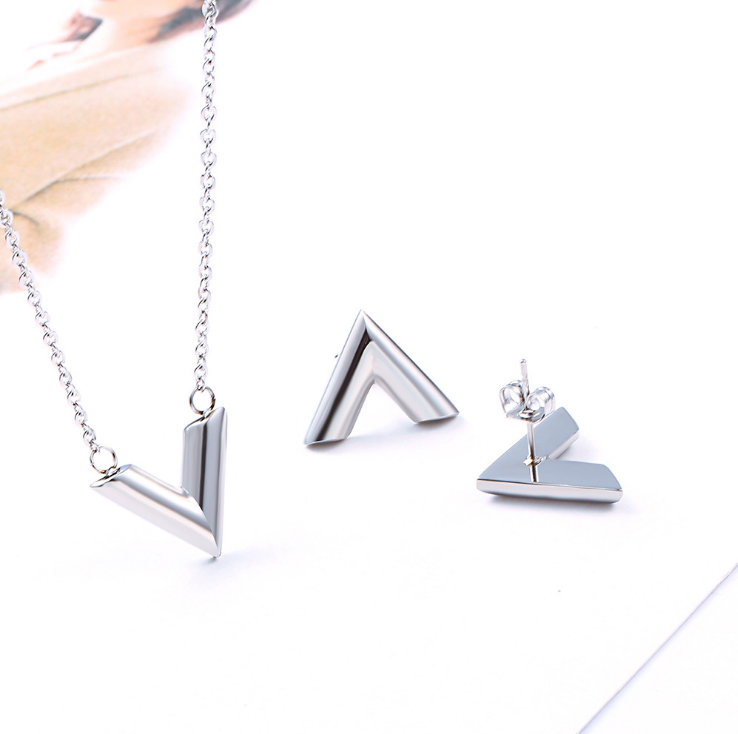 "Jewelry Set, Fashion Jewelry Set Letter ""V"
