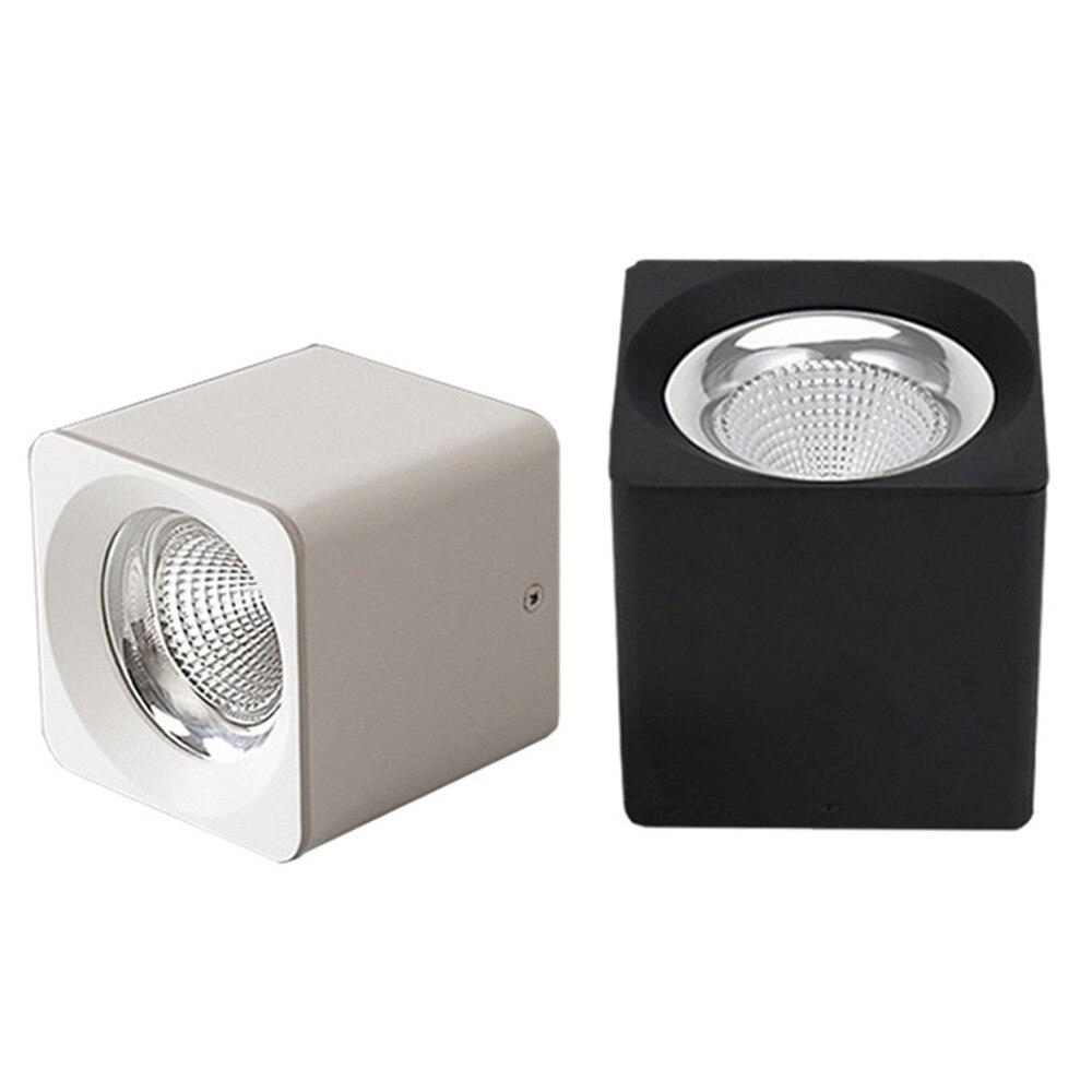 Image 2 - Lámpara LED de techo montada en superficie cuadrada DBF de 10W/20W/30W, foco de techo AC85 265V con controlador LED de 3000K/4000K/6000KLuces para el techo   -