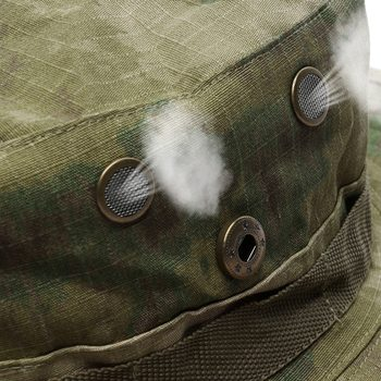 Camouflage Tactical Cap Military Boonie Hat US Army Caps Camo Men Outdoor Sports Sun Bucket Cap Fishing Hiking Hunting Hats 60CM 5