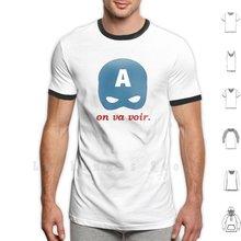 On Va Voir t-shirt grande taille 100% coton, casquette d'équipe sur Va Voir le casque Steve Rogers
