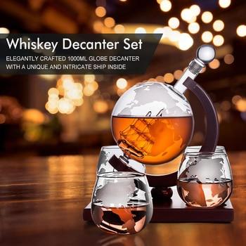 Z-NING Creative Glass Wine Set Glass Wine Bottle Whisky Glass Red Wine Decanter Home Kitchen Brandy Glass Bar Decoration 1