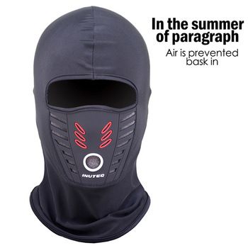 Kominiarka dla mężczyzn kominiarka zimowa wiosna kapelusz na lato wiatroodporna termiczna polarowa szyja ciepła wodoodporna maska na twarz tanie i dobre opinie Sfit CN (pochodzenie) COTTON Riding mask Stałe Czapka z daszkiem Jazda na rowerze