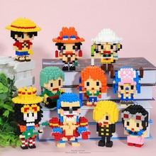 Japanese Anime One Piece Diamond Block 3D Simulation Model DIY Build Model Educational Toys