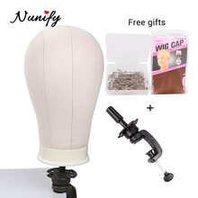 """Nunify 21"""" 22"""" 23"""" 24"""" 25"""" Mannequin Head For Wigs Head With Stand Wig Cap For Wig Making Kit Tools Holder Hair Net T Pins Comb"""