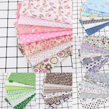 25x25cm 7Pcs Cotton Fabric Printed Cloth Sewing Quilting Fabrics for Patchwork Needlework DIY Handmade Accessories