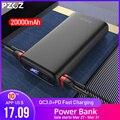 PZOZ 20000mAh batterie d'alimentation USB C PD chargeur rapide pour iPhone Samsung xiaomi Type C Charge rapide 3.0 USB Powerbank batterie externe|Batterie externe| |  -