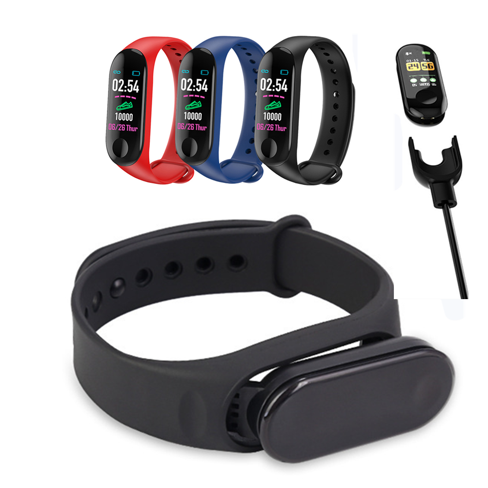 M3 Smarter Wristband Cardiac Frequency Monitor Clock From Smart Pulse FitnessTracker Smart Band with a spare strap