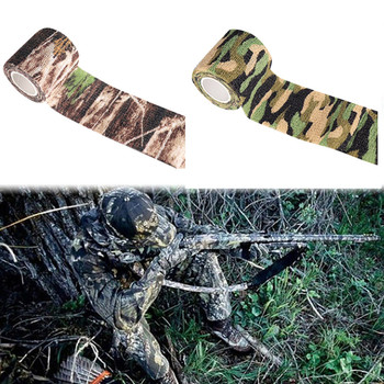 1 Roll U Pick 4.5x5cm Waterproof Outdoor Camo Hiking Camping Hunting Camouflage Stealth Tape Wraps Outdoor Hunting Stealth Duct image