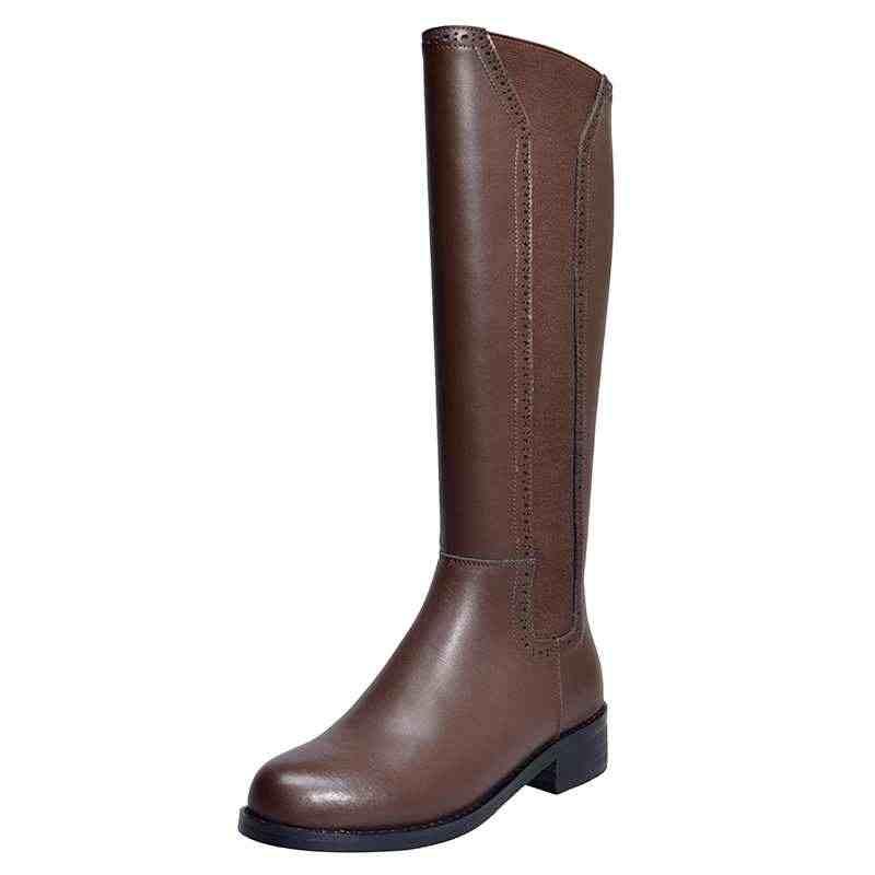 Krazing Topf Koreanische mädchen mode rock kuh leder karree high heels gürtel schnalle zip feste winter frauen oberschenkel hohe stiefel L18