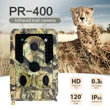 1PC PR400 HD telecamera per esterni 12MP1080P OutdoorTrail caccia telecamera a infrarossi versione notturna HD telecamera per animali selvatici sorveglianza UK