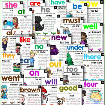 52 Pages Sight Words reading classroom poster Wooksheet Children Learning English language Exercise books for kids - discount item  10% OFF Learning & Education
