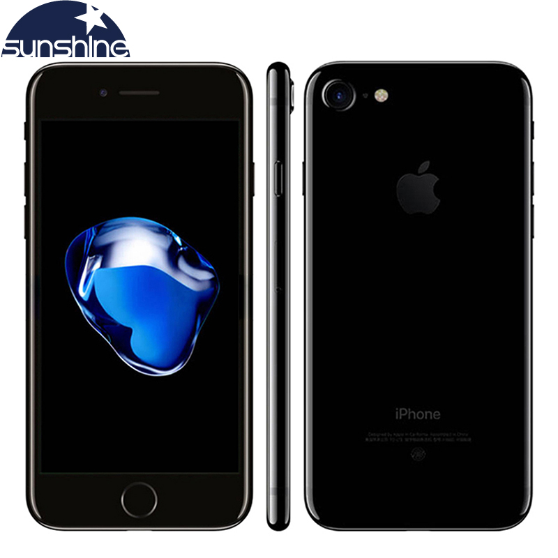 Smartphone original apple iphone 7 ios 10, celular com 4g lte, núcleo quad core, 2gb de ram, 256gb/128gb/32gb rom 4.7 ''12.0 mp impressão digital smartfone 1
