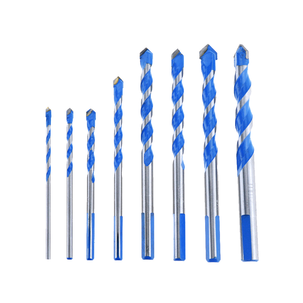 1PCS Blue 3mm To 12mm 8mm Multifunctional Glass Drill Bit Twist Spade Drill Triangle Bits For Ceramic Tile Concrete Glass Marble
