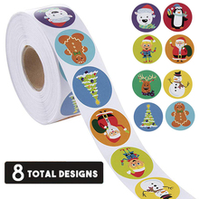 Holiday Stickers 500PCS Christmas Stickers Roll for Kids Reward Tags for New Yea