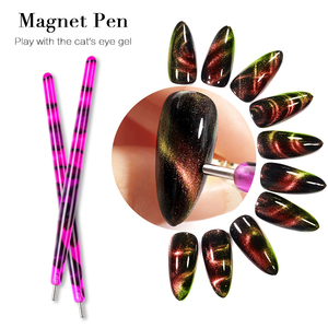1 Pc Magnetic Stick for 9D Cat Eye UV Gel Polish Multi-function Strong Magic Nail Magnet Stick Manicuring Nail Art Tools