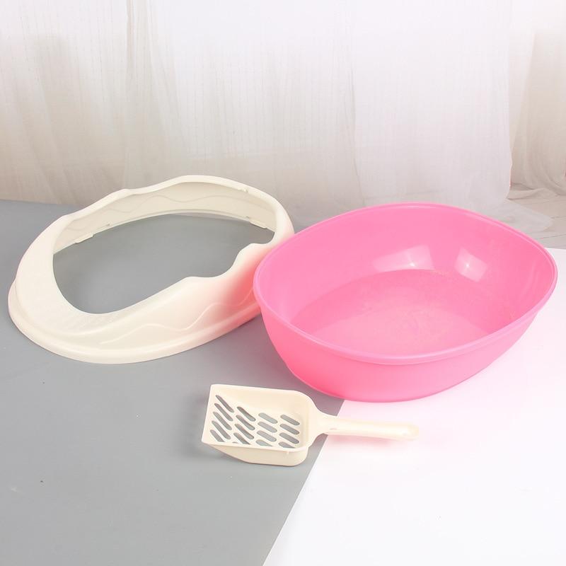 Litter Box Semi-closed Cat Toilet Large Cat Bedpan Send Cat Litter Scoop Pet Supplies