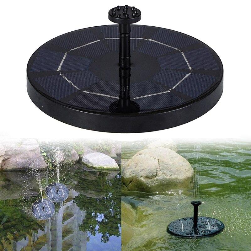 Solar Brunnen Schwimmende Garten Wasser Brunnen Pool Teich Dekoration Solar Powered Brunnen Wasserpumpe Drop Verschiffen