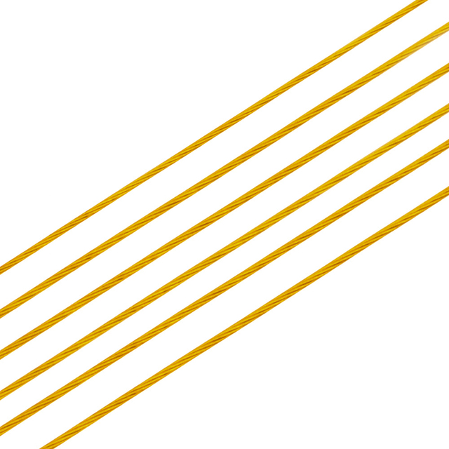 New Gold Color Stainless Steel Wire Beading Rope Cord Fishing Thread String For DIY Necklace Bracelets Jewelry Making Findings 4