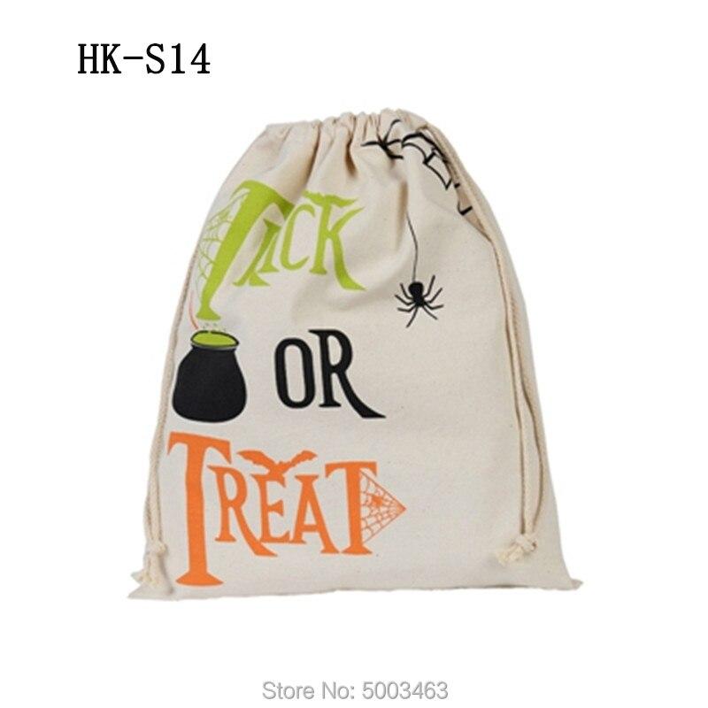 Wholesale Halloween Drawstring Bag 100pcs/lot Sack Candy Handbag 9 Styles Sack Party Decoration Halloween Gift Pumpkin Bags