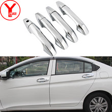 Tuning Door Handle Car Accessories Chrome Exterior Moldings Parts Decoration For Honda City Aria 2009 2010 2011 2012 2013 2014