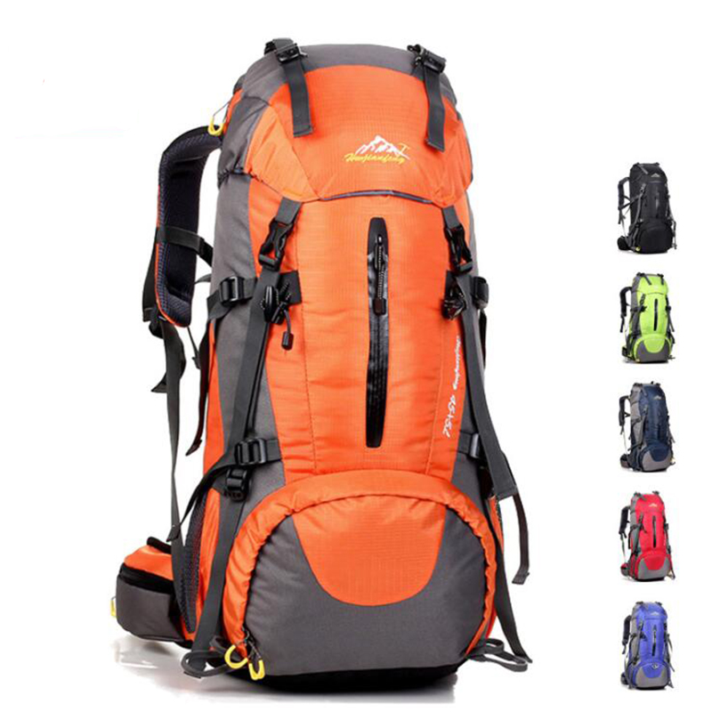 50L Backpack Outdoor Mountaineering Bag Sports Backpack Waterproof Nylon Bag Camping Hiking Riding Backpack Men And Women