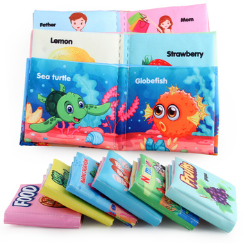 Baby Cloth Book Baby Puzzle Cloth Book Infant Baby Quiet Books Educational Stroller Rattle Toys Parent-child Interactive Sound