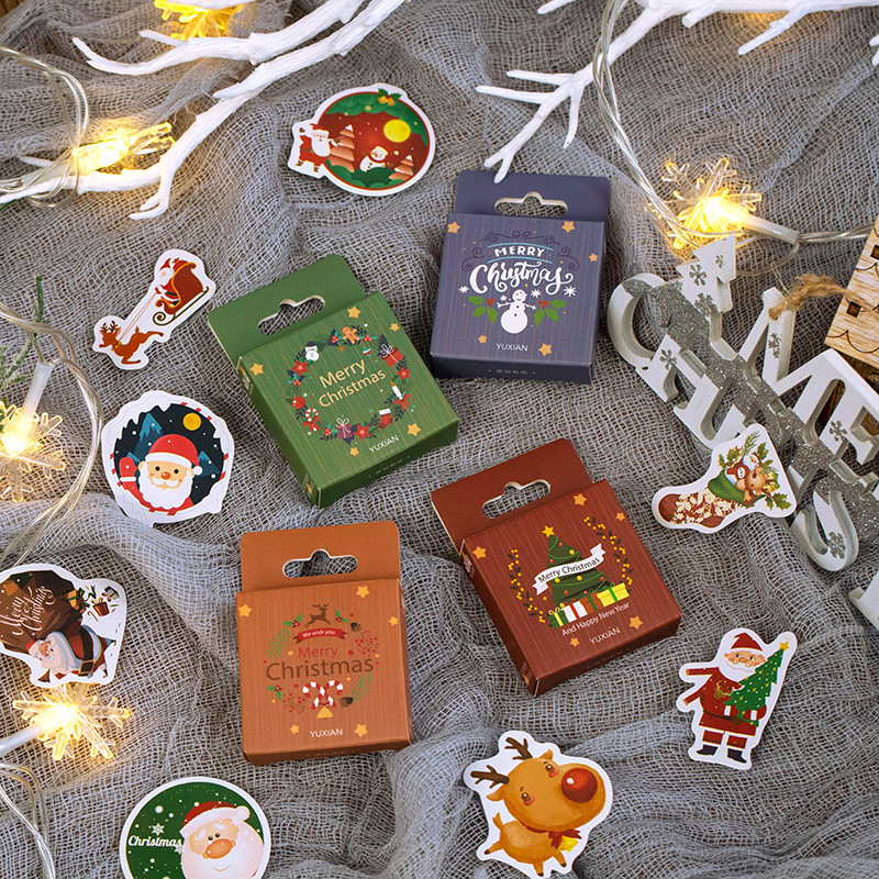 Christmas Greeting Series Reindeer Bullet Journal Decorative Stationery Stickers Scrapbooking DIY Diary Album Stick Label