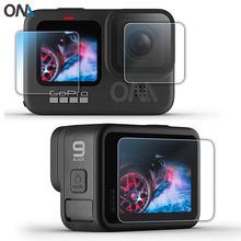 Go Pro Hero 9 Tempered Glass Screen Film Protector For Gopro Hero 9 Black Action Camera Accessories Tempered Lens Film Protector