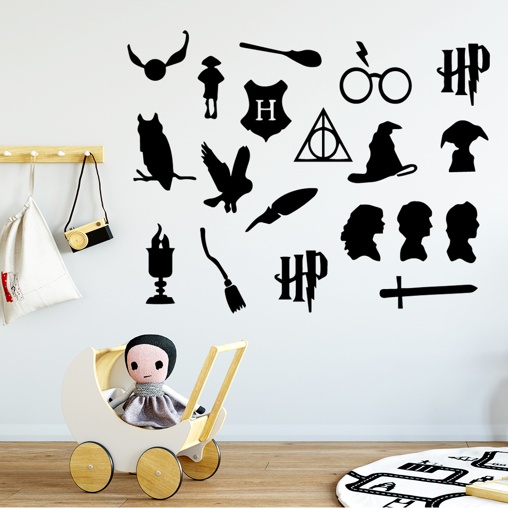 Cartoon Pattern Decal Removable Vinyl Mural Poster For Kids Room Living Room Home Decor Home Party Decor Wallpaper in Wall Stickers from Home Garden